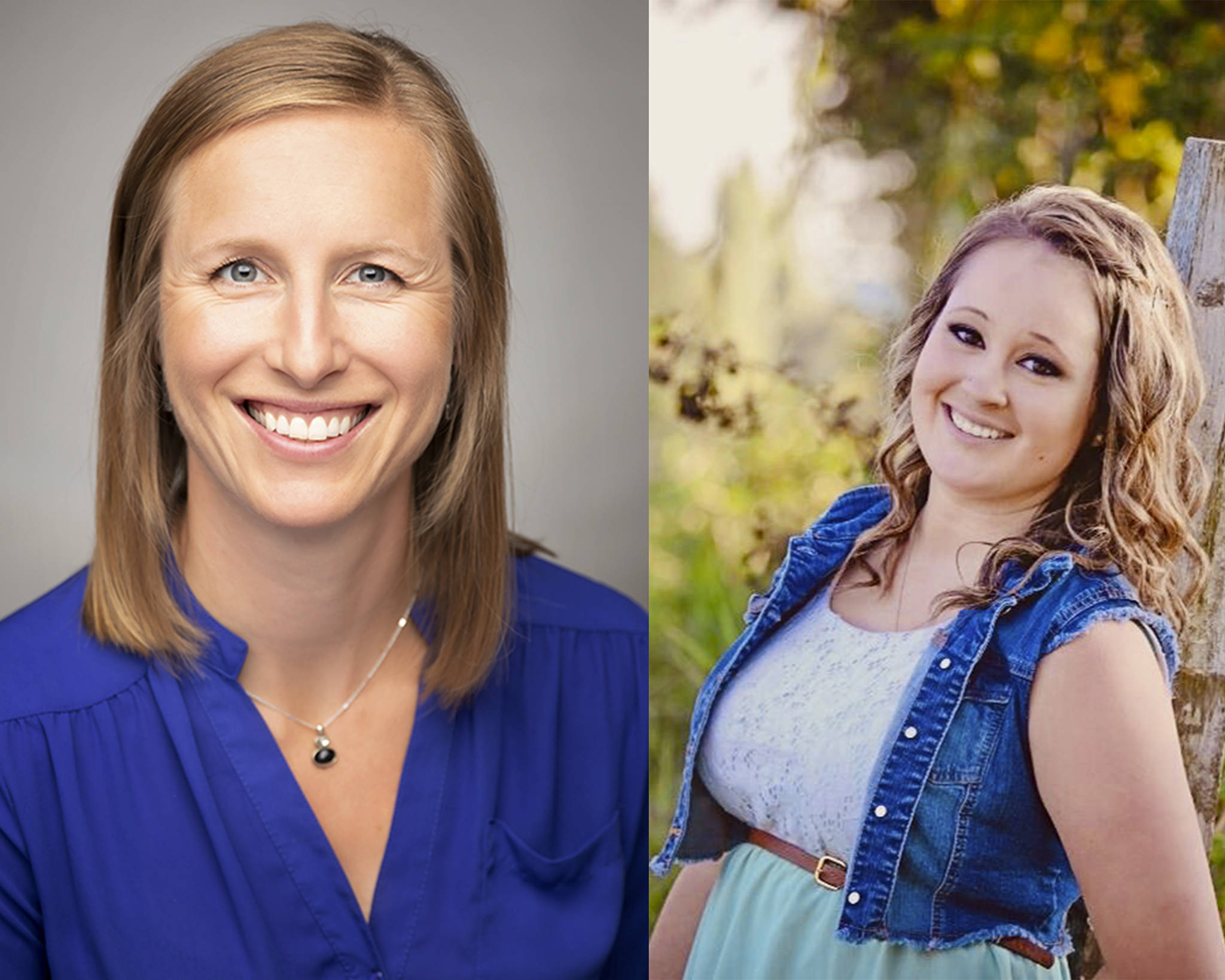 Catherine Fredenburg and Kayla Noonan are running for Si View Metropolitan Park District Commissioner Position 1. Courtesy photos